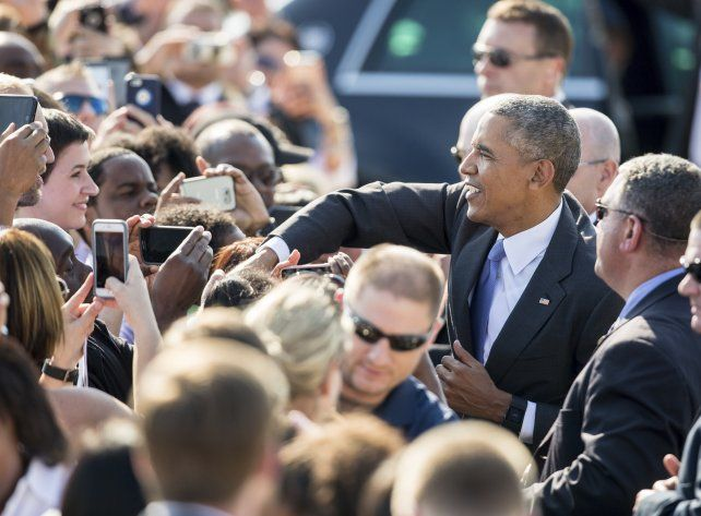 Espaldarazo. Obama salió a apoyar a Clinton