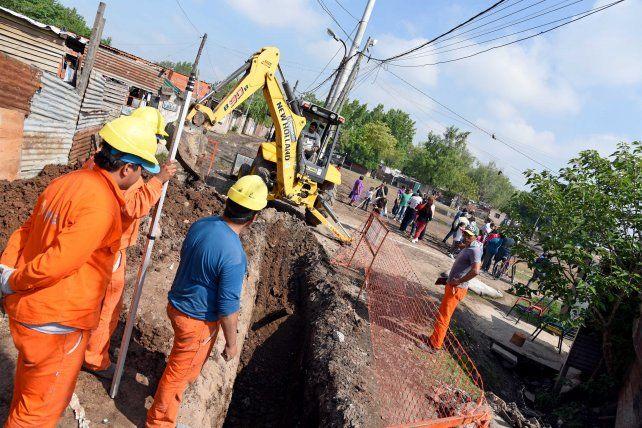 Obras vitales. Los trabajos de apertura de calles