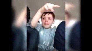 El video de un nene llorando porque sus compañeros lo eligieron como arquero es viral