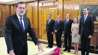 Presentación. Rajoy informa a Felipe VI los nombres de sus ministros.