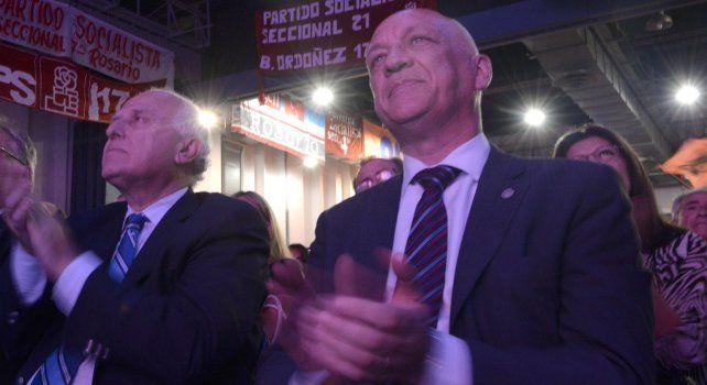 El gobernador Miguel Lifschitz y el titular de la Cámara de Diputados