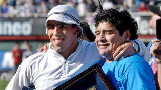 Diego Maradona y Carlos Tevez