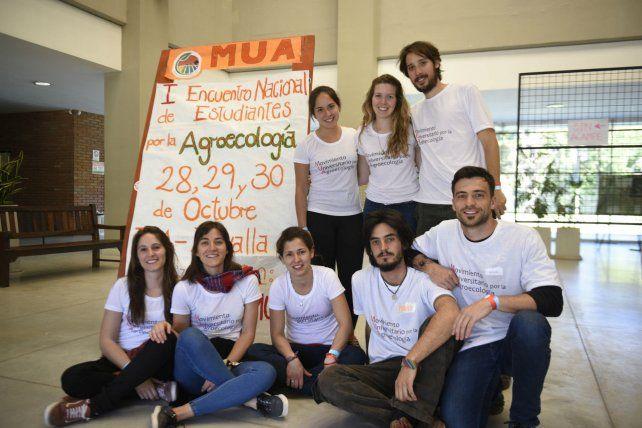 Estudiantes del Movimiento Universitario por la Agroecología (MUA) convoaron al encuentro nacional.