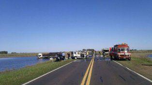 Ruta 7. El accidente ocurrió en una zona recta del camino y con buena visibilidad.