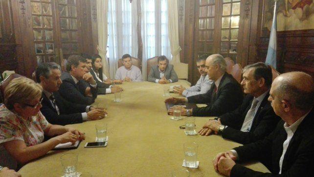 La reunión entre los referentes locales de la industria y los funcionarios de la Nación