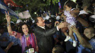 En campaña. Daniel Ortega