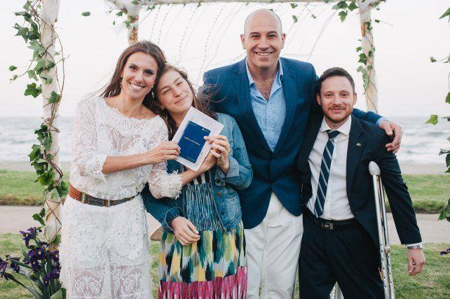 Las fotos de la romántica boda de Martiniano Molina y la periodista rosarina Ileana Luetic
