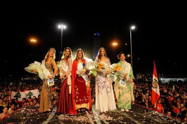 Gimena Christou fue elegida anoche como nueva reina de Colectividades