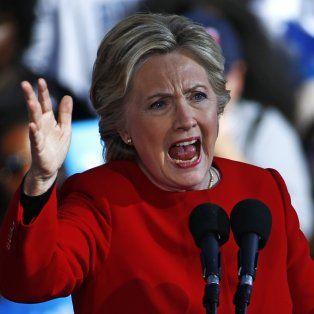 Luchadora. Hillary Clinton ayer, durante un acto en Pittsburgh.