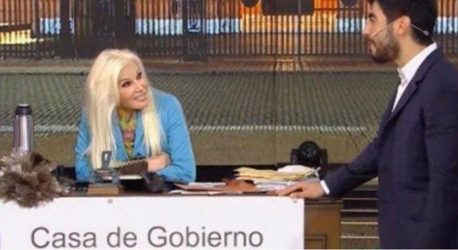 Susana en su programa junto al diputado del Frente Renovador Facundo Moyano.