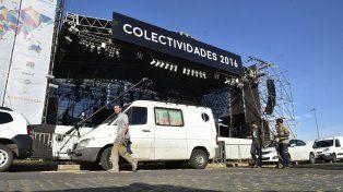 La tradicional Fiesta de Colectividades fue suspendida por el paro de trabajadores municipales.