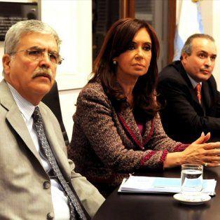 José López, junto a Cristina y Julio De Vido. (Foto de archivo)
