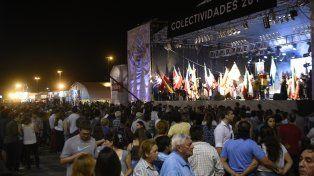 La Fiesta de Colectividades se prolongará hasta el martes próximo.