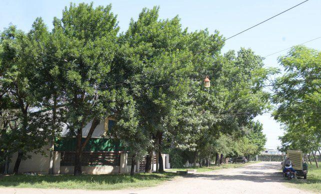 La calle de Funes escena del robo.