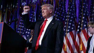 Donald Trump al encarar su primer discurso como presidente electro de EE. UU.