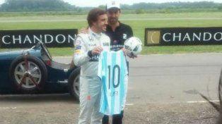 Alonso y Pieres esta mañana en General Rodríguez.