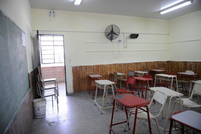 Las aulas volverán a verse vacías el próximo martes en todo el territorio provincial.