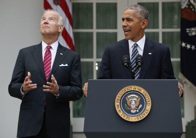 Obama habló de la traspaso de mando junto al vicepresidenteJoe Biden en la Casa Blanca.