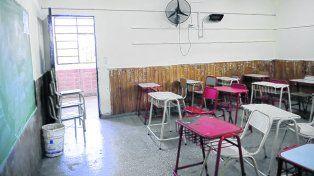 aulas vacías. Así estarán las salas de primaria y secundaria en la provincia el martes de la semana próxima.
