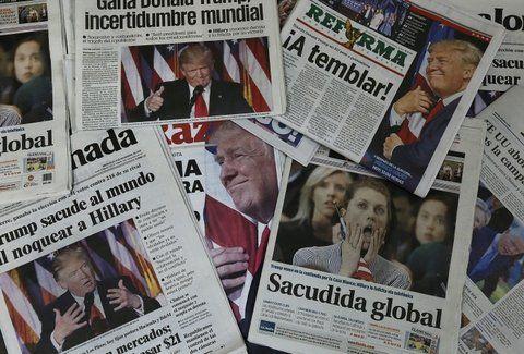 alarmistas. Las portadas con que los periódicos salieron a la calle ayer en el Distrito Federal de México.