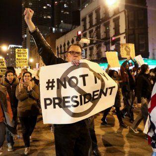 Chicago fue una de las ciudades donde se vieron manifestaciones contra el presidente electo.