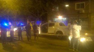 La camioneta de DAmico luego del ataque del que se salvó de casualidad.