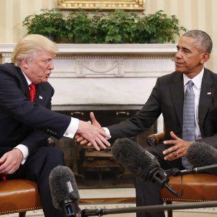 El presidente Barak Obama recibió a quien será su sucesor, Donald Trump, en la Casa Blanca.