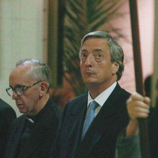 Otros tiempos. Bergoglio y Néstor Kirchner, con poca sintonía.