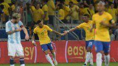 argentina no hizo pie en belo horizonte y cayo por goleada frente a brasil