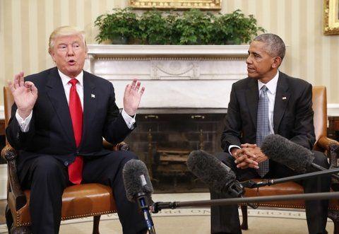 gesto. Trump no pudo evitar sus conocidas gesticulaciones