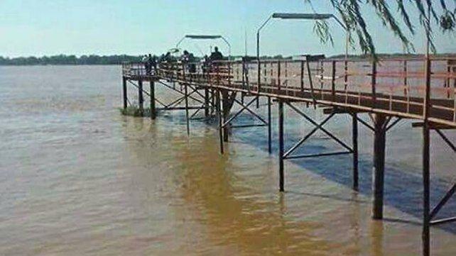 El muelle del club de pescadores ubicado en Mangrullo. A pocos metros de allí