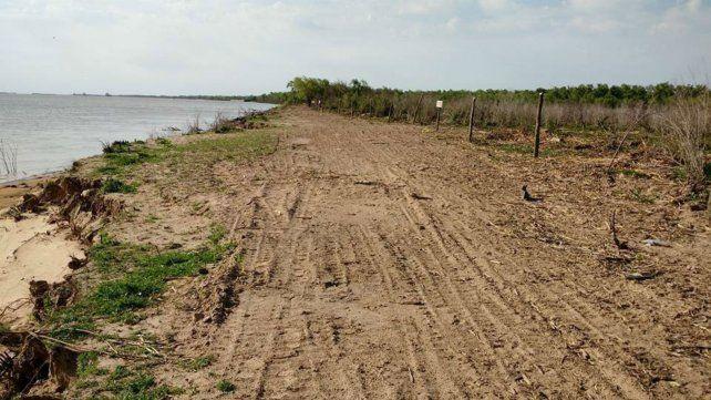 Registro. Las fotos obtenidas muestran la desforestación en una zona del islote Pancho.
