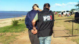 En la costanera. Frente a la laguna Setúbal de Santa Fe cayó el último detenido.