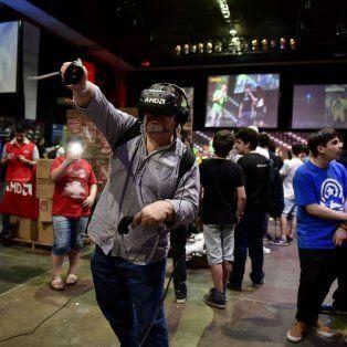Atracciones. Los juegos de realidad virtual fueron la vedette de la jornada en el salón Metropolitano.