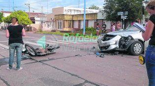 escenario. El siniestro se registró ayer a la tarde en el cruce de las calles Ituzaingó y Fanti