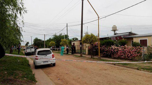 Perímetro. La calle del barrio Centenario donde se produjo el asesinato de Ana Barbeli