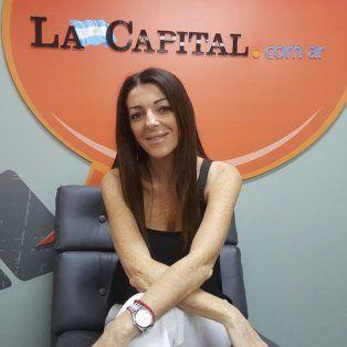 Cynthia Wila visitó hoy La Capital.