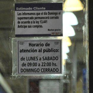 Cerrado. Desde julio, los grandes supermercados que funcionan en Rosario no pueden abrir sus puertas por la adhesión local a la ley de descanso dominical.