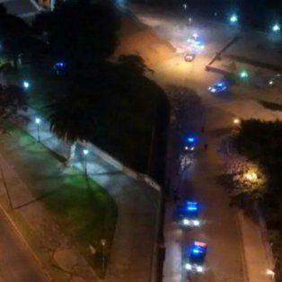 Los patrulleros se desplazaron por la zona del Parque España.