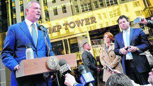 al frente. El alcalde de Nueva York