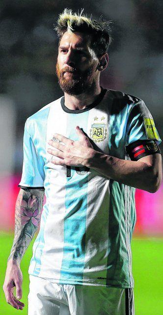 Desde el alma. Lionel Messi fue el gran artífice de la victoria sobre Colombia. La Pulga jugó por todos.