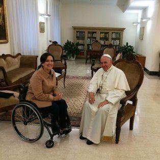 El Papa Francisco recibió a la vicepresidenta en la residencia de Santa Marta.