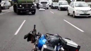 Marcos Di Palma hizo otra locura tras un grave accidente en moto en plena autopista