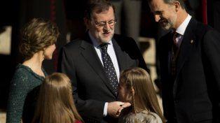 Ceremonia. Rajoy junto al monarca
