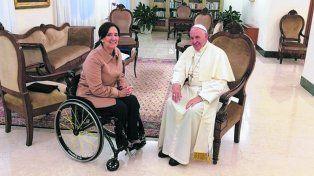 A solas. La vicepresidenta fue recibida por Francisco en el Vaticano.