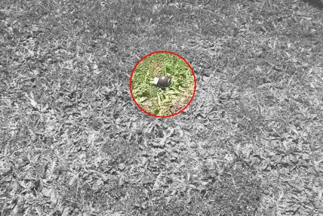 La réplica de granada fue hallada en la previa del partido de Almirante Brown.