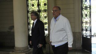 Cumbre. Bermúdez y el ex candidato a presidente Facciano estuvieron en la reunión en Gobernación.