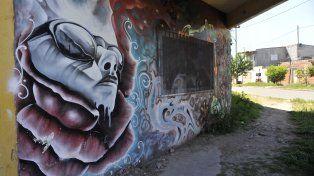 Uno de los murales de barrio Alvear.