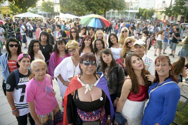 Por más conquistas. La Marcha y Festival de la Diversidad Sexual se concentró ayer en la plaza Libertad.