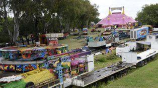 Mudanza. El circo Tihany llegó y se instaló en un lugar que no debía. Por el paro municipal